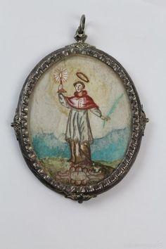 ANTIGUO RELICARIO DE PLATA S. XVII. MEDIDA: 11 X 8'5 CM. - Foto 1