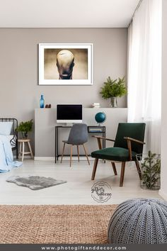 30 Inexpensive Studio Apartment Decorating Ideas On A Budget - If you are looking for ideas to decorate a small studio apartment you need to think about the type of furniture that is suitable and the amount of col. Boy Wall Art, Wall Art Decor, Luxury Home Accessories, Ideas Cafe, Living Room Decor, Bedroom Decor, Decor Room, Studio Apartment Decorating, Apartments Decorating
