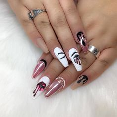 Want some ideas for wedding nail polish designs? This article is a collection of our favorite nail polish designs for your special day. Pretty Nail Colors, Pretty Nail Designs, Short Nail Designs, Fall Nail Designs, Acrylic Nail Designs, Acrylic Nails, Dope Nails, Swag Nails, My Nails