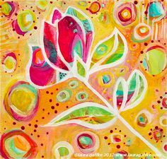 Colorful Abstract Magnolia Giclee Print