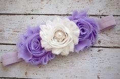 Lavender Baby Headband.Baby Headband.Purple by RosesandPolkadots
