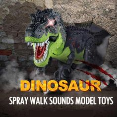 Electric Walking Dinosaur Toys with Music Light Spray Large Size Walk Sounds Animals Model Toys for Children Dinosaur Toys, Light Music, 6 Years, Kids Toys, Om, Electric, Walking, Range, Children