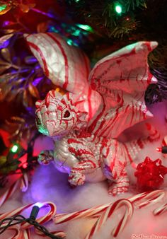 Pretty Peppermint Dragon by Sixthleafclover http://the-sixthleafclover.deviantart.com/art/Pretty-Peppermint-Dragon-272045383