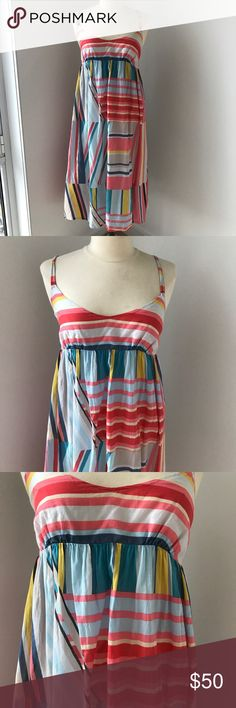 V-neck cotton striped dress Light, perfect for spring/summer/beach days! J. Crew Dresses Midi
