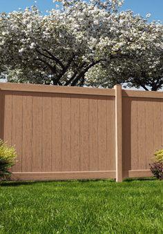Brown Vinyl Privacy Fence redwood vinyl privacy fence - brown vinyl fence dallas | vinyl
