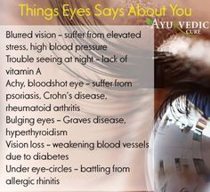 Things eyes says about you
