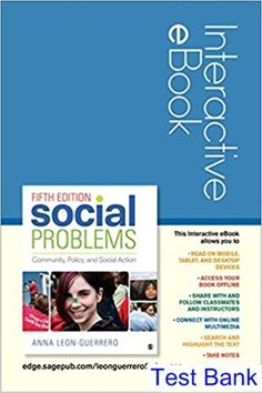 Get cheap free textbooks college student textbooks fun test bank for social problems interactive ebook community policy and social action 5th edition by leon fandeluxe Images