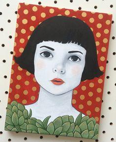 'Even Artichokes have hearts!' Gouache on wood - Emma Hampton 2015 Framed Prints, Canvas Prints, Art Prints, Sticker Design, Gouache, Cute Art, Illustration Art, Illustrations, Art Boards