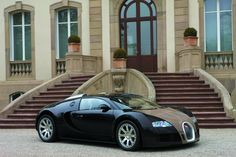Bugatti Veyron - fastest production road car in the world. Top speed = 267 mph