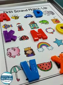 Cookie Sheet Activities are a fun way for toddlers, preschool, kindergarten or first grade students to practice foundational skills. Using these magnetic boards for alphabet practice with alphabet mag Cookie Sheet Activities, Letter Sound Activities, Letter Activities, Letter Sound Games, Word Games, Preschool Kindergarten, Preschool Learning, Toddler Preschool, Preschool Activities