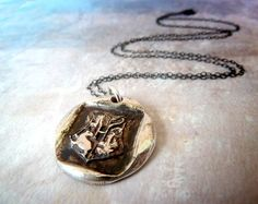 Harry Potter Inspired Wax Seal Necklace by RenataandJonathan, $65.00