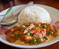 Panang Curry with Beef from a local restaurant, Chiang Mai.