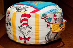 Child's Pillow Seat Seuss panels by DesignsbyValentine on Etsy, $55.00