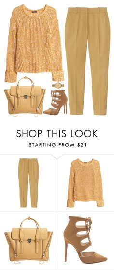 """Untitled #1360"" by timeak ❤ liked on Polyvore featuring J.Crew, H&M, 3.1 Phillip Lim and Lacoste"