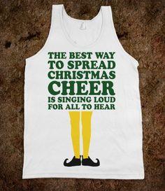 Christmas Cheer (Elf Quote Tank)
