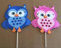 Adorable OWL Baby Shower Centerpiece Foam Decorations for a Candy Crafts, Owl Crafts, Easter Crafts, Diy And Crafts, Crafts For Kids, Shower Foam, Owl Parties, Baby Owls, Baby Giraffes