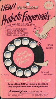 "modern1960s: ""Pamper Your Dialing Finger! """