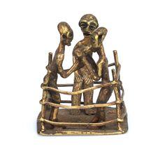 African art, Boxing Match Asante #1683 | Figures | Metal — Deco Art Africa - Decorative African Art - Ethnic Tribal Art - Art Deco