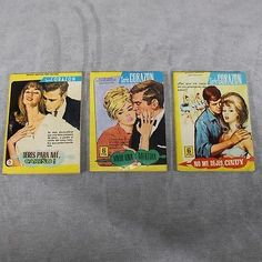 Lote de 3 Novelas Graficas Para Adultos- Colección Damita Años 60- L5224 - IN...