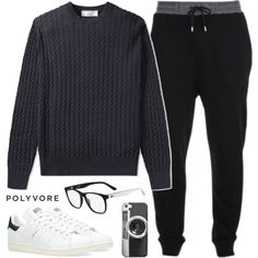 |Menswear by alexandra-provenzano on Polyvore featuring AMI, McQ by Alexander McQueen, adidas, Lacoste, Casetify, men's fashion and menswear