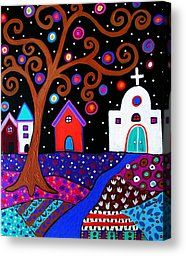 Whimsical Town Painting by Pristine Cartera Turkus -  Whimsical Town Fine Art Prints and Posters for Sale