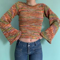 Cute Crochet, Knit Crochet, Crochet Jumper, Foto Fantasy, Mein Style, Crochet Fashion, Mode Inspiration, Looks Cool, Crochet Clothes