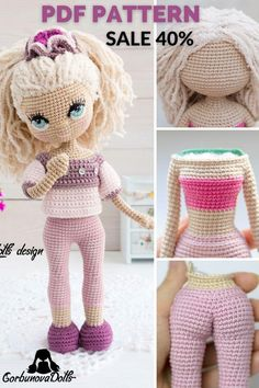 Easy-to-follow ENGLISH tutorial, which consists of 28 pages in PDF format with a lot of Images illustrating the step-by-step instructions Handmade Dolls Patterns, Diy Crochet Patterns, Crochet Doll Pattern, Amigurumi Patterns, Handmade Toys, Doll Patterns, Etsy Handmade, Knitting Patterns, Knitted Cat