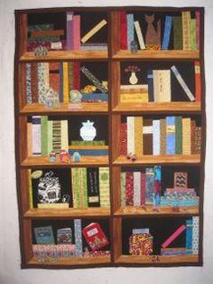 A little bit of Kaos: Book shelf Quilt