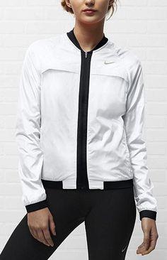Nike Sphere Bomber jacket. #running #gear #nike http://www.FitnessGirlApparel.com