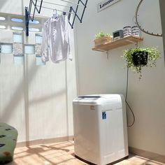 New bath room closet clothes ideas Outdoor Laundry Rooms, Grey Laundry Rooms, Laundry Room Shelves, Laundry Closet, Home Room Design, Interior Design Living Room, Location Villa, Patio Interior, Bathtub Remodel