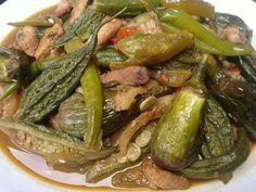 Our very own native food in philippines we call it ilocano& pinakbet. Filipino Dishes, Filipino Recipes, Asian Recipes, Beef Recipes, Cooking Recipes, Healthy Recipes, Ethnic Recipes, Filipino Food, Healthy Food