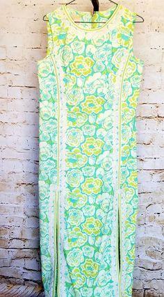 1960s The Lilly Pulitzer Maxi Dress Pop Art Floral Lace Shift dress Rare find #LillyPulitzer #Maxi