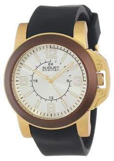 August Steiner Mens AS8057BR Quartz Sport Silicone Strap Watch ** Read more details by clicking on the image. #mensoutdoorclothing