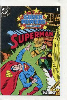 Superman 1 super powers collection mini comic promo Kenner VG/F 1983 rare Comic Book Covers, Comic Books, Action Comics 1, Superman Comic, Classic Artwork, Super Cat, Dc Comics Superheroes, Marvel Vs, Dc Heroes