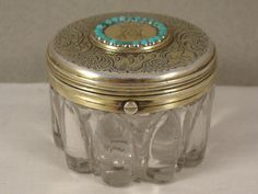 FINE VICTORIAN SILVER GOLD MOUNTED TRAVELLING INKWELL LONDON 1856