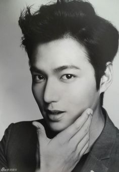 GUY CANDY: Lee Min Ho in black and white