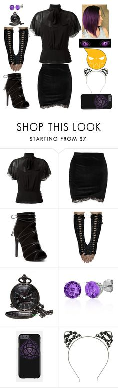 """""""Soul Eater Inspired"""" by lucy-wolf ❤ liked on Polyvore featuring RED Valentino and Belk & Co."""