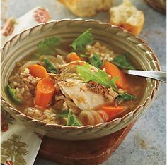 Ancient Grain and Turkey Soup by @mytexaslife