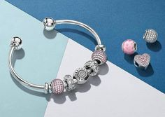 Pandora Jewelry OFF! Pandora Open Bangle, Bracelet Pandora Charms, Pandora Rings, Pandora Jewelry, Charm Jewelry, Charm Bracelets, Modern Jewelry, Fine Jewelry, Color Fantasia
