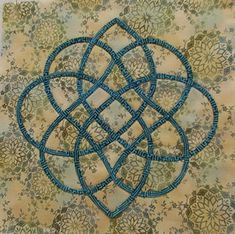 Celtic Block #14 from Baskets: Celtic Style, my second book. This is a students' block from one of my classes.