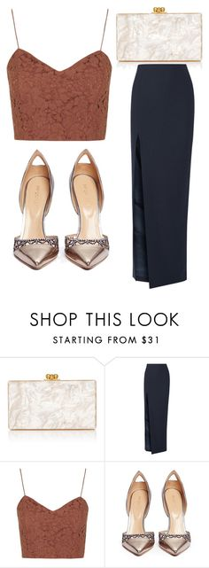 """Untitlled #3025"" by evalentina92 ❤ liked on Polyvore featuring Edie Parker, Elizabeth and James, Topshop and Sergio Rossi"