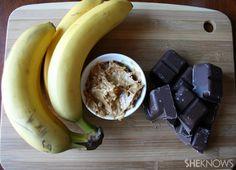 Banana Peanut butter & Chocolate bites= yummy snack