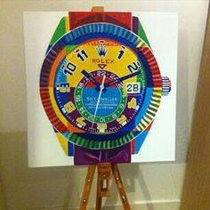 Rolex sky-dweller pop art Sky Dweller, Vintage Watches, Rolex, Pop Art, Clock, Canvas, Diamond, Home Decor, Watch