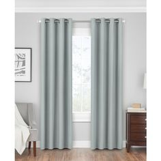 "Hudson Hill Linden 50"" x 63\"" Grommet Window Panel ($46) ❤ liked on Polyvore featuring home, home decor, window treatments, curtains, spa, grommet window treatments, grommet curtain panels, grommet curtains, grommet draperies and grommet window panels"