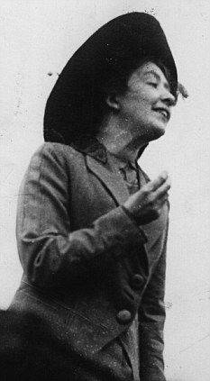 Campaigner: Sylvia Pankhurst's approach to suffrage was at odds with her mother's and sister's more militant methods.  However, she always made her point!