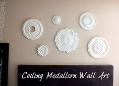 Ceiling Medallion Wall Art by TwoSistersCrafting.com #wallart #twosisterscrafting