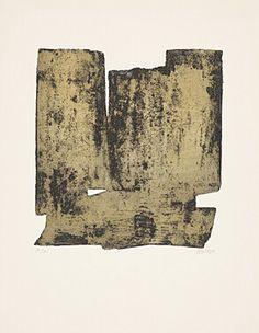 "Pierre Soulages (Born 1919 Rodez) ""Eau-forte XII"" Farbaquatintaradierung 1957 65.7 x 50.3 cm Pr. 39.5 x 36.5 cm"