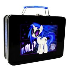 "Amazon.com: My Little Pony Tin DJ P0N-3 ""Vinyl Scratch"" Lunchbox: Toys & Games"