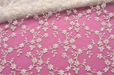 Ivory Lace Fabric, Floral Lace, Ivory Wedding Lace, Off White Bridal Lace, Wedding Dress, Formal Dress, Couture Wedding lace by VintageToLiveBy on Etsy https://www.etsy.com/listing/231844432/ivory-lace-fabric-floral-lace-ivory