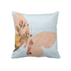 Butterfly Roses pillow